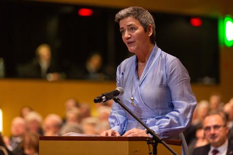 Margrethe Vestager desserre les règles relatives aux aides d'État. (Photo: Romain Gamba/ Maison Moderne )