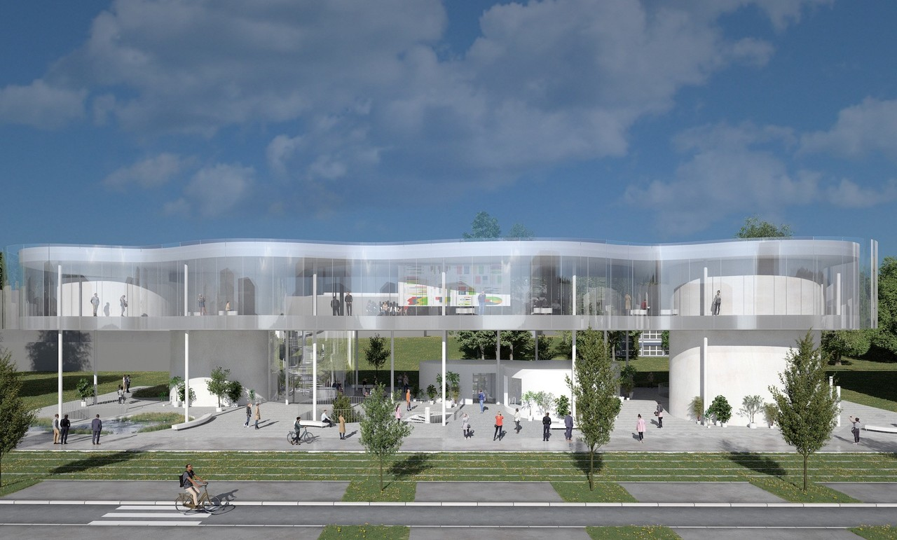 """""""The Cloud"""", located on Boulvard John F. Kennedy, will be the gateway to the University of Luxembourg's Kirchberg campus Photo: Sanaa / Fabeck Architectes"""