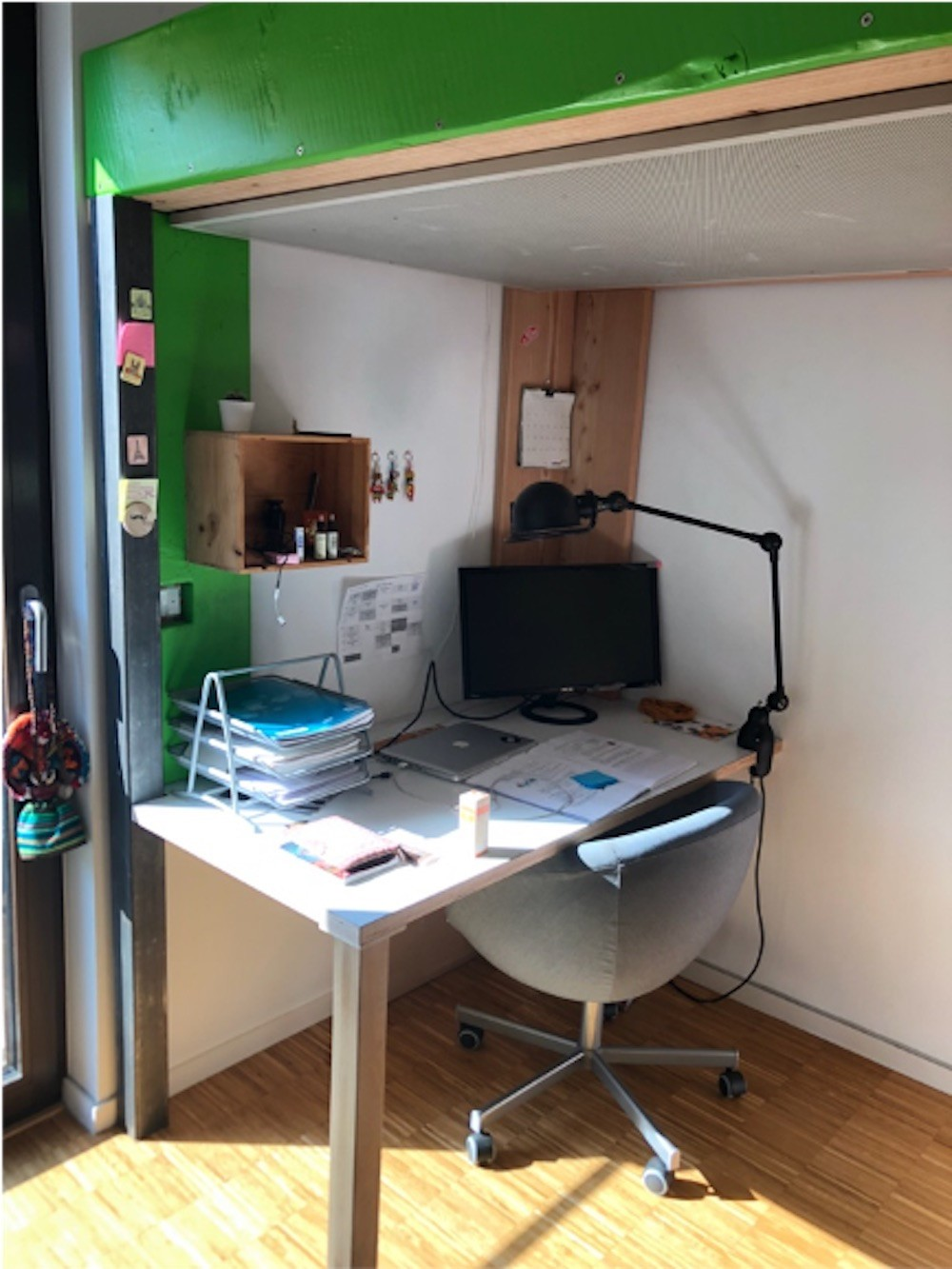 Chiara's bedroom in Pfaffenthal, 2018. Photo provided by Séverine Zimmer and Chiara Agostini