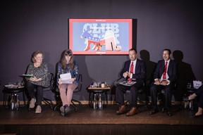Amanda Surbey, Natalie Bachiri (Democrats), James O'Neal and William Abundes (Republicans) ((Photo: Jan Hanrion / Maison Moderne))