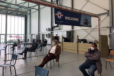 600 rendez-vous ont été pris au centre de vaccination de Luxembourg Air Rescue pour son ouverture ce lundi 12 avril. (Photo: Paperjam)