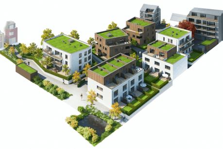 Le Verger Ermesinde est un projet de logements abordables et conçu sans voiture. (Illustration: Fabeck Architectes)