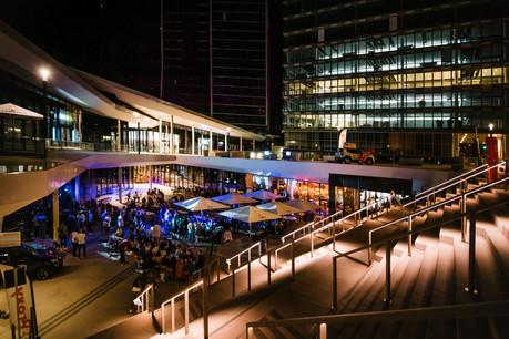 Comme lors de la Fête nationale, les établissements du complexe Infinity au Kirchberg vont mettre les bouchées doubles pour accueillir leur public festif avec toutes les précautions sanitaires nécessaires, à l'occasion de l'événement assis Music On X Open Air Seated Festival. (Photo: Nader Ghavami/Maison Moderne)