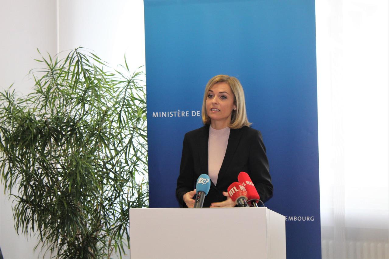 Taina Bofferding a présenté le projet de loi7126 qui vise à renforcer les compétences des agents municipaux. (Photo: Ministère de l'Intérieur)