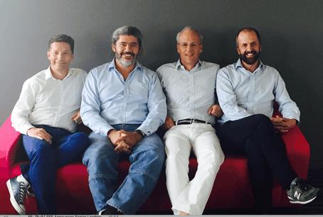 Les quatre fondateurs d'Expon Capital, Alain Rodermann, Rodrigo Sepulveda Schulz, Jérôme Wittamer, Marc Gendebien. (Photo: Expon Capital)