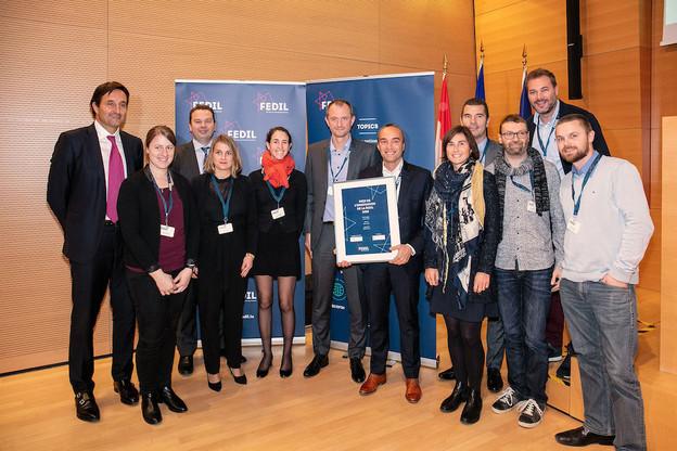 Docunify IP Company a notamment été récompensée en 2018 par le Prix de l'innovation de la Fedil. (Photo: Fedil / Raphaël Yoshitomi)
