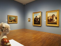 Une salle est dédiée aux peintures en lien avec l'Italie, que ce soit à l'occasion du Grand Tour des artistes ou avec les  vedute  des amateurs d'art. ((Photo: Les 2 Musées de la Ville de Luxembourg) )