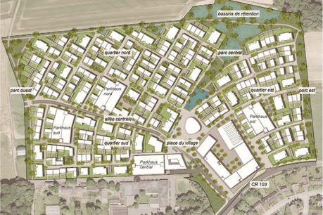 Le budget du «village central» du projet Elmen, qui comprendra 388 logements, est estimé à 268 millions d'euros, selon le projet de loi de financement du premier PAP. (Illustration: SNHBM)