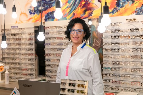 L'opticienne veut mêler art et mode dans son magasin de la rue Aldringen, dans la capitale. (Photo: Romain Gamba/Maison Moderne)
