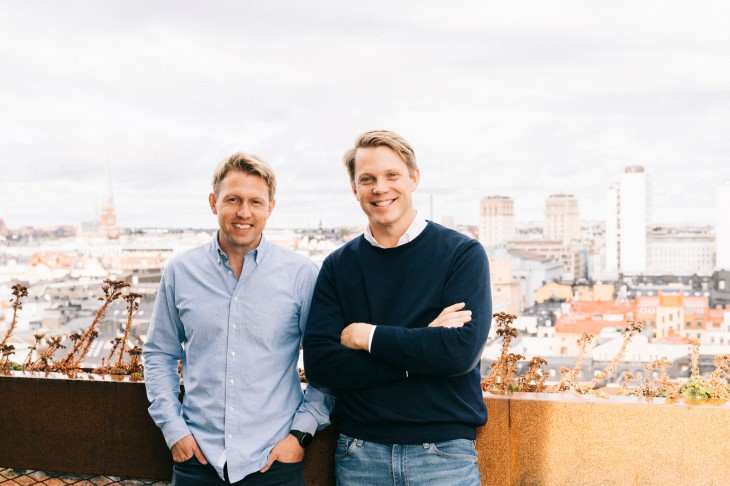 The two founders of Tink, Daniel Kjellén and Fredrik Hedberg, a fintech bought by Visa, but which should remain in Stockholm. (Photo: Tink)