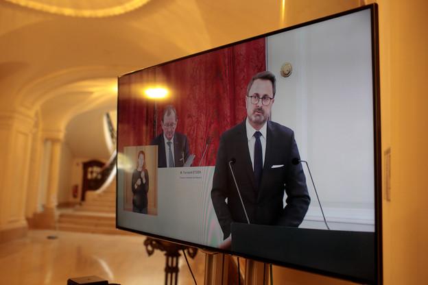 Le Premier ministre a tenté de prendre de la hauteur malgré la contamination de tous les leviers économiques, politiques et sociaux par l'épidémie de Covid-19. (Photo : Matic Zorman / Maison Moderne)