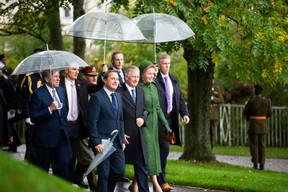 François Bausch (vice-Premier ministre), Xavier Bettel (Premier ministre), S.M. le Roi des Belges et S.M. la Reine des Belges ((Photo: Anthony Dehez))