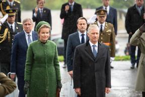 François Bausch (vice-Premier ministre), S.M. la Reine des Belges, Xavier Bettel (Premier ministre) et S.M. le Roi des Belges ((Photo: Anthony Dehez))