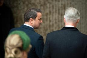 Xavier Bettel (Premier ministre) et S.M. le Roi des Belges ((Photo: Anthony Dehez))