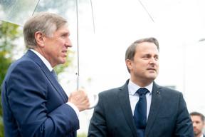 François Bausch (vice-Premier ministre) et Xavier Bettel (Premier ministre) ((Photo: Anthony Dehez))