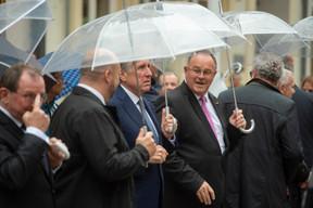 Fernand Etgen (Président de la Chambre des députés), Étienne Schneider (vice-Premier ministre), François Bausch (vice-Premier ministre) et Romain Schneider (ministre de l'Agriculture) ((Photo: Anthony Dehez))