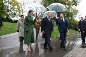 S.M. la Reine des Belges, S.M. le Roi des Belges et Xavier Bettel (Premier ministre) ((Photo: Anthony Dehez))