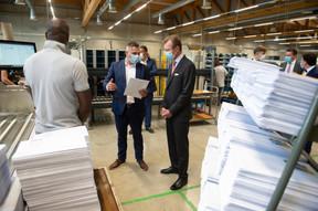 S.A.R. le Grand-Duc a visité, le mercredi 20 mai, le Centre de tri national de Post Luxembourg à Bettembourg. ((Photo: Post Luxembourg))
