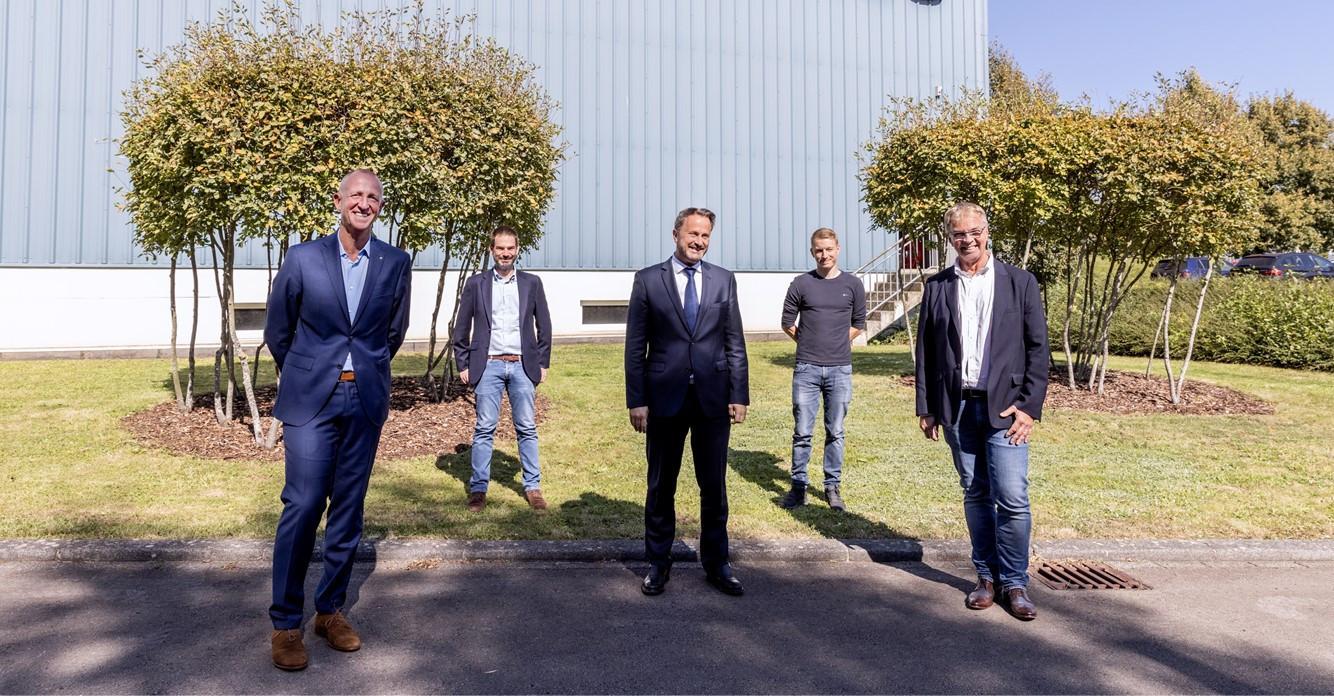 Minusines a reçu en visite le Premier ministre et ministre de la Digitalisation, Xavier Bettel (Photo : Minusines)