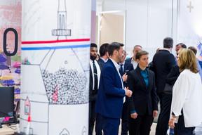 Martin Guérin (CEO du Luxembourg-City Incubator), Ana Brnabic (Première ministre de la république de Serbie) et Karin Schintgen (CEO de la House of Startups) ((Photo: SIP / Jean-Christophe Verhaegen))