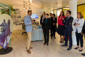 Nasir Zubairi (CEO de la Lhoft), Ana Brnabic (Première ministre de la république de Serbie), Carlo Thelen (directeur général de la Chambre de commerce) et Karin Schintgen (CEO de la House of Startups) ((Photo: SIP / Emmanuel Claude))