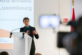 Ana Brnabic (Première ministre de la république de Serbie) ((Photo: SIP / Emmanuel Claude))