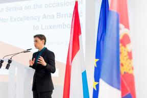Ana Brnabic (Première ministre de la république de Serbie) ((Photo: SIP / Jean-Christophe Verhaegen))