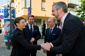 Ana Brnabic (Première ministre de la république de Serbie), Xavier Bettel (Premier ministre), Luc Frieden (président de la Chambre de commerce) et Marko Cadez (président de la Chambre de commerce de Serbie) ((Photo: SIP / Emmanuel Claude))