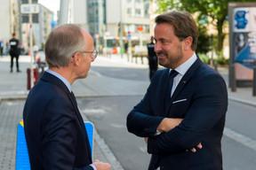 Luc Frieden (président de la Chambre de commerce) et Xavier Bettel (Premier ministre) ((Photo: SIP / Emmanuel Claude))