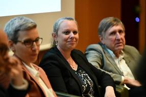 Sam Tanson (Ministre du Logement), Carole Dieschbourg (Ministre de l'Environnement) et François Bausch (Ministre de la Mobilité et des Travaux Publics) ((Photo: Julien Swol))