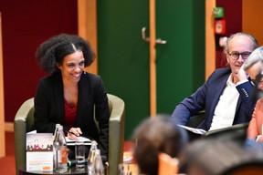 Sala Makumbundu (OAI) et Claude Turmes (Ministre de l'Énergie) ((Photo: Julien Swol))