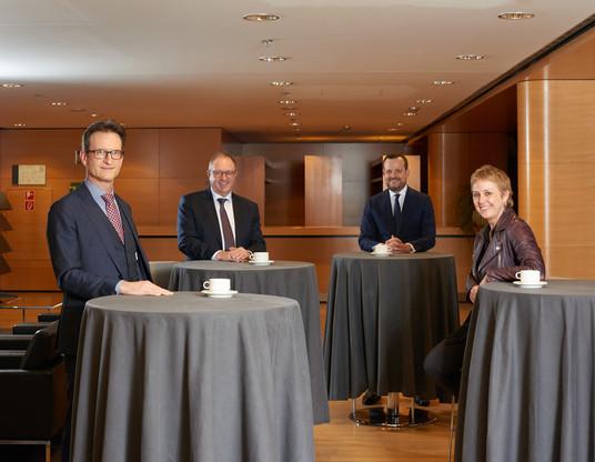 Carlo Thelen, Pierre Ahlborn,Jean-Marc Ueberecken et Sasha Baillieont répondu à notre invitation pour cette table ronde. (Photo: Andrés Lejona / Maison Moderne)
