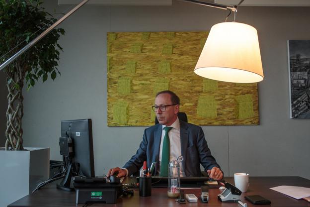 Robert Scharfe, CEO de la Bourse de Luxembourg, explique comment il gère le quotidien dans le contexte actuel. (Photo: Matic Zorman / Archives)