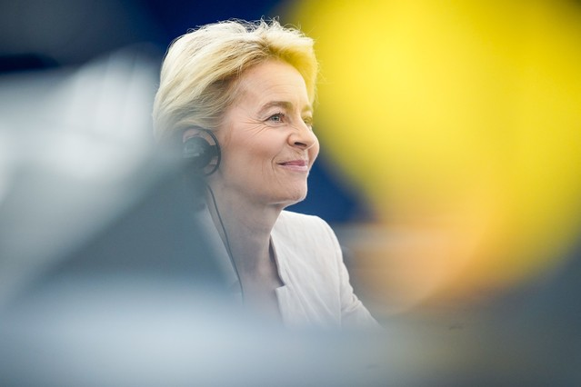 Ursula von der Leyen passait ce mardi son second grand oral devant le Parlement européen. (Photo: European Union 2019/Source: EP)