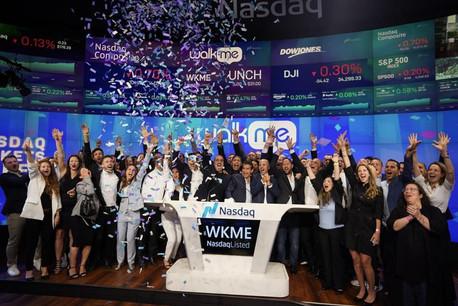 Pour son premier jour au Nasdaq, WalkMe a levé 286,75 millions de dollars. (Photo: WalkMe)