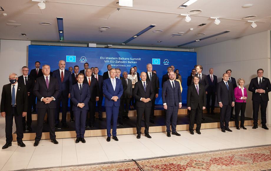 A family photo of EU leaders gathered for the EU–Western Balkans Summit on 6 October Photo: European Union / Dimitris Papamitsos