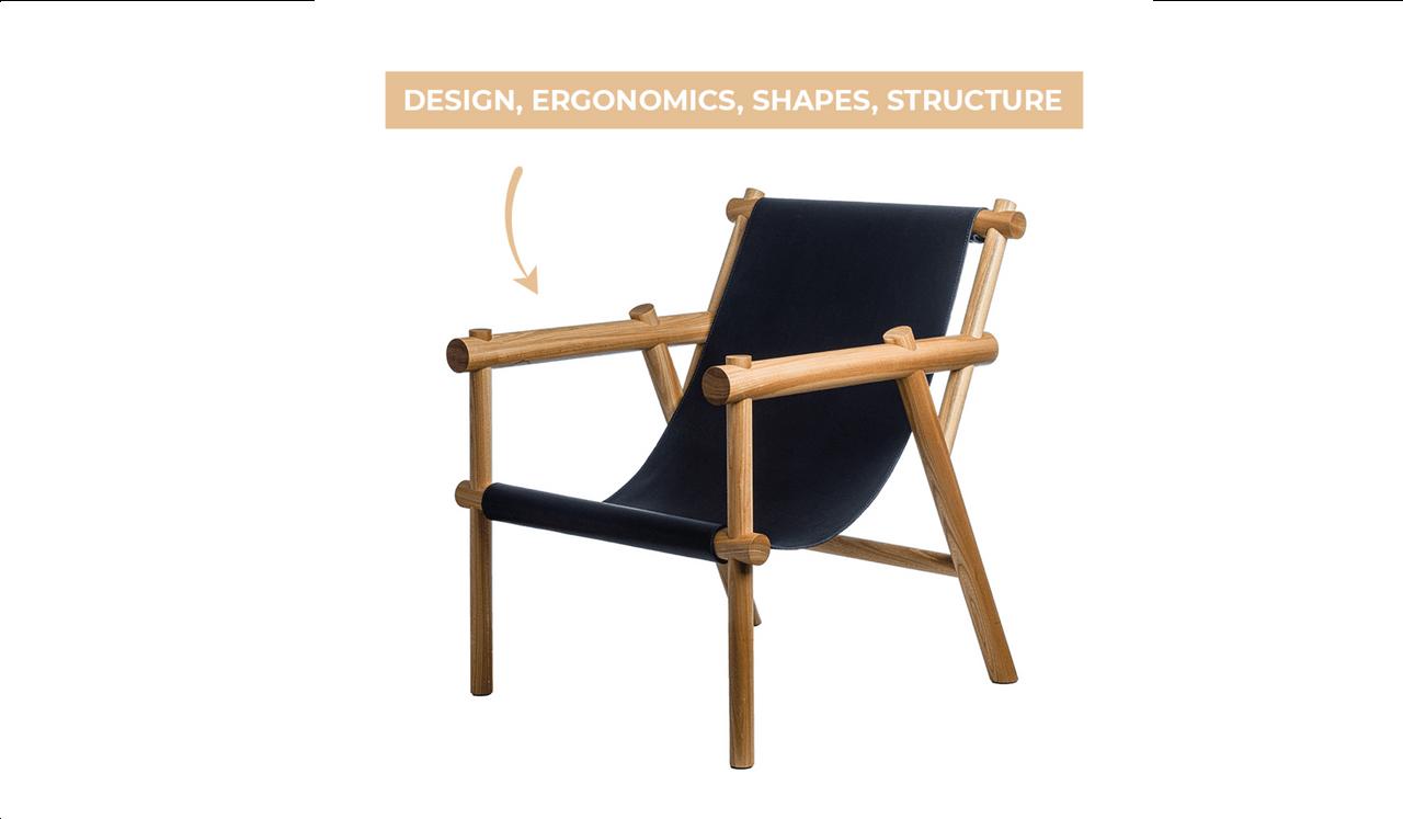Nordic Design Shop, entreprise spécialisée dans le jacuzzi, la décoration et le mobilier nordique, propose la Whiskey Chair, (Photo : Nordic Design Shop)