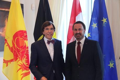 Xavier Bettel a rencontré Elio Di Rupo, président du gouvernement wallon.  (Photo: SIP)