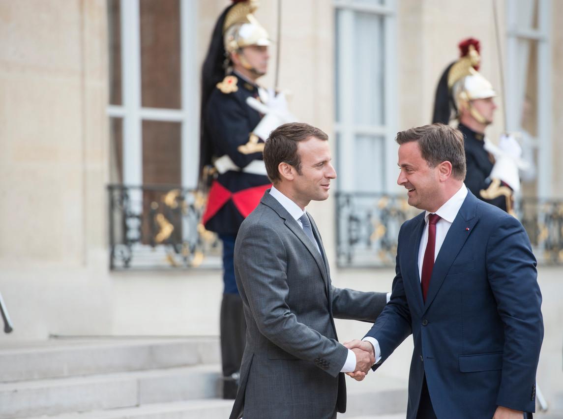 Le Premier ministre Xavier Bettel avait effectué une visite de travail en juillet 2017 à Paris, où il avait notamment été reçu par Emmanuel Macron à l'Élysée. (Photo: Anthony Dehez / Archives)