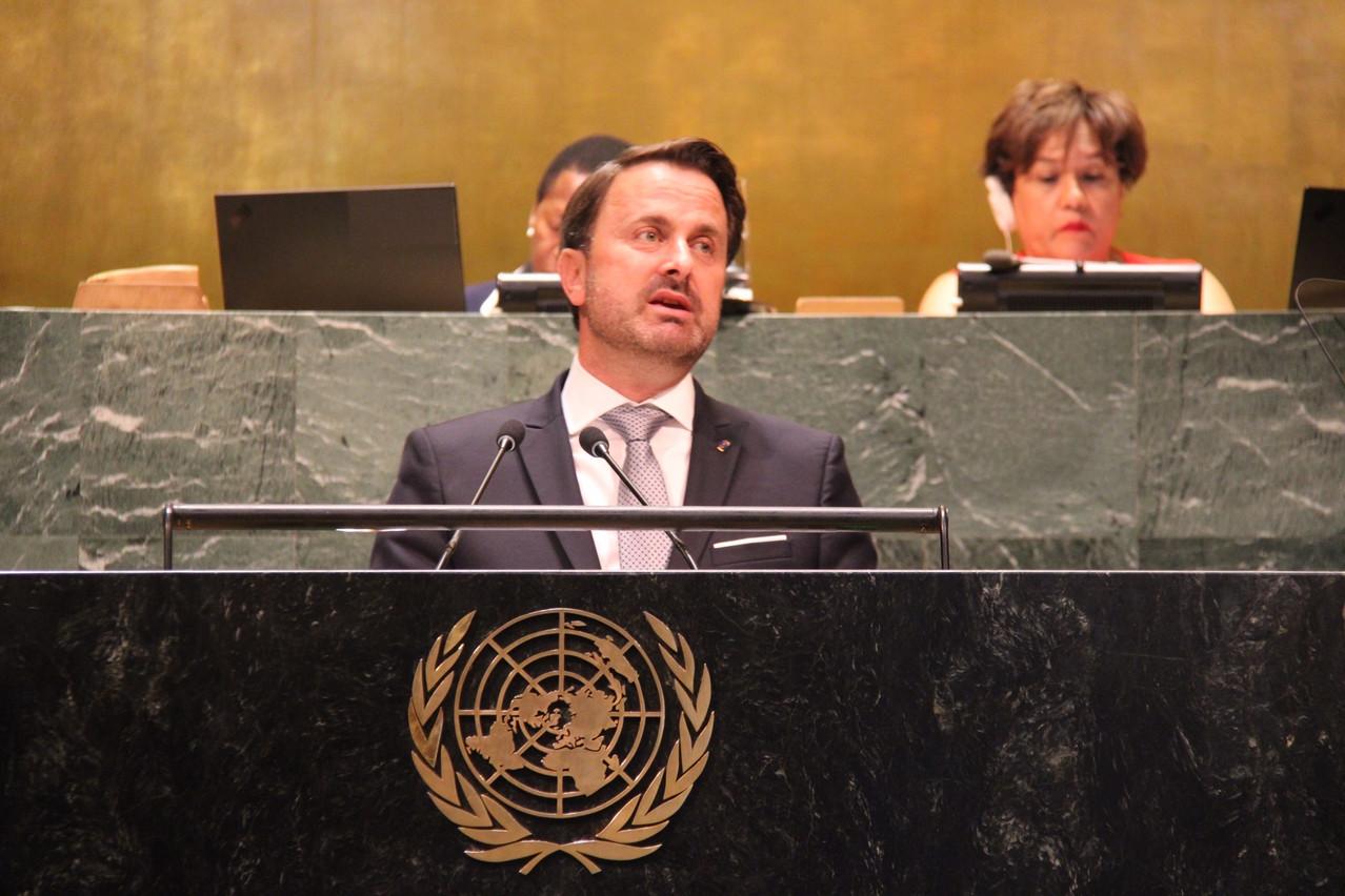 Le Premier ministre a défendu le climat et les droits de l'Homme à l'ONU. (Photo: SIP)