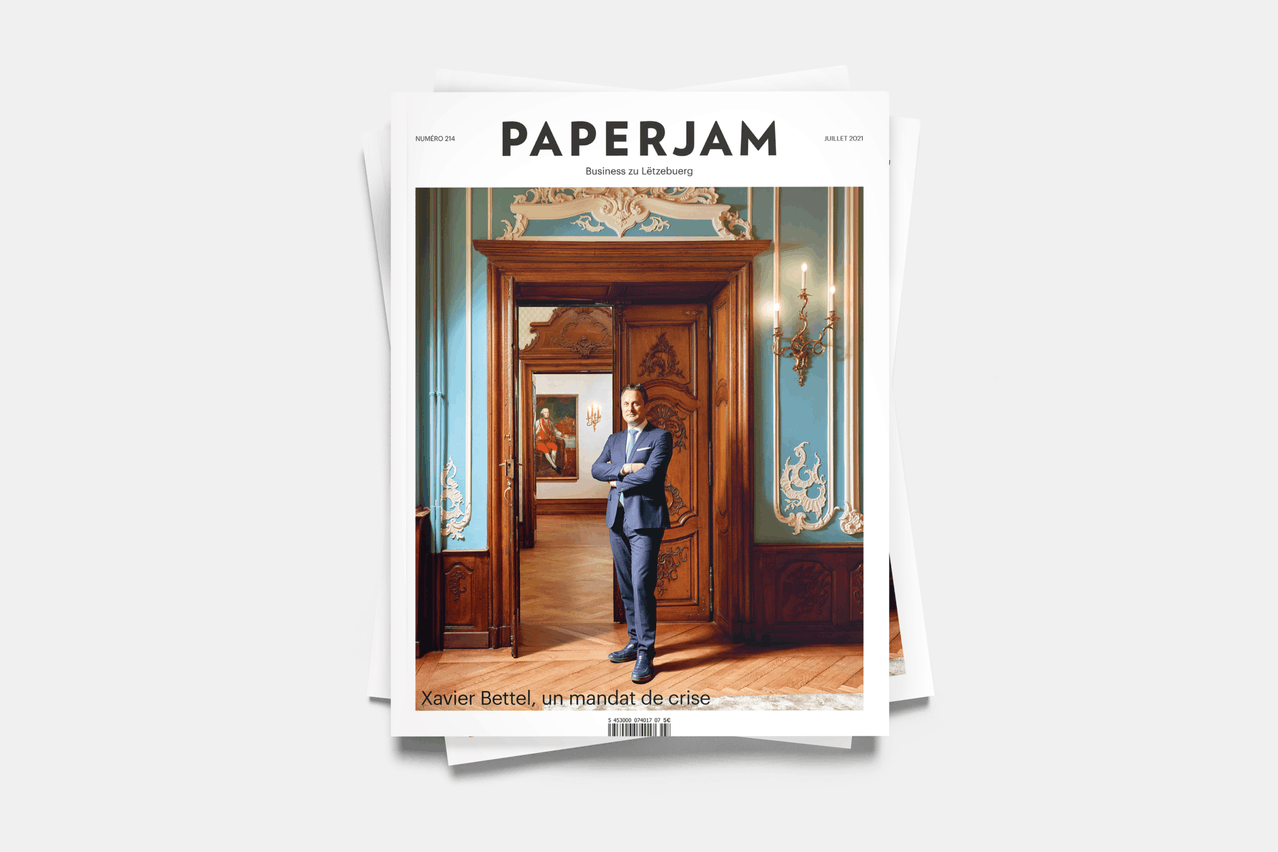XavierBettel, en couverture du numéro de juillet de Paperjam. (Photo: Andrés Lejona/Maison Moderne)