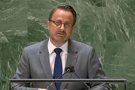 Le Premier ministre a tenu l'allocution nationale du Luxembourgen français lors du débat général de la 76esession de l'Assemblée générale des Nations unies. (Photo: SIP)