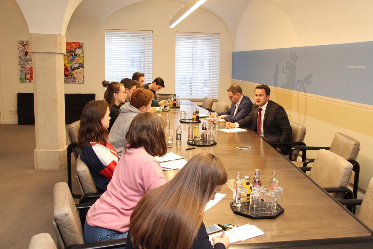 La délégation de jeunes gens a été reçue à l'Hôtel de Bourgogne ce lundi. (Photo: ministère d'État)