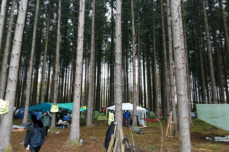 Au fil des mois, les «zadistes» avaient organisé sur le site un véritable campement. (Photo: Shutterstock)